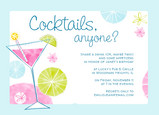 Pink Cocktails Anyone 7x5 Flat Card