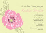 Pink Flower Party 7x5 Flat Card
