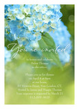 Bright Blue Hydrangea 5x7 Flat Card