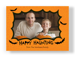 Happy Haunting Bats 7x5 Flat Card
