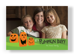 Pumpkin Day Smiles 7x5 Flat Card