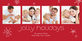 Jolly Holidays Stars 8x4 Flat Card
