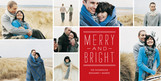 Merry Bright Lines 8x4 Flat Card