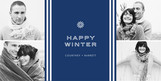 Happy Winter Snowflake 8x4 Flat Card