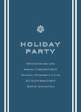 Holiday Party Snowflake 5x7 Flat Card