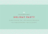 Blue Stripes Party 7x5 Flat Card