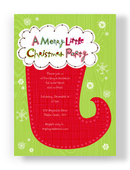 Merry Little Party 5x7 Flat Card