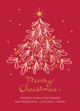 Business Christmas Tree 5x7 Flat Card