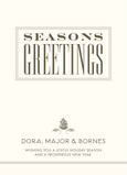 Square Seasons Greetings 5x7 Flat Card