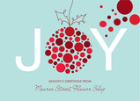 Dotted Ornament Joy 7x5 Flat Card