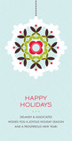 Holiday Business Wreath 4x8 Flat Card