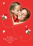 Bee Mine Valentine 5x7 Flat Card