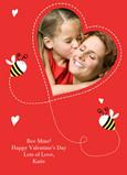 Bee Mine Valentine 5x7 Flat Card