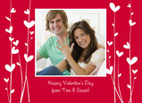 Heart Valentine Vines 7x5 Flat Card