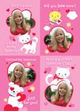 Pink Valentine 5x7 Flat Card