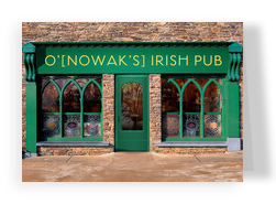 Personalized Irish Pub 7x5 Folded Card