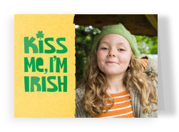 Kiss Me Irish 7x5 Folded Card