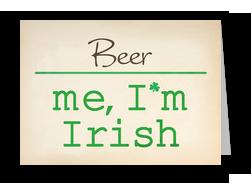 Blank Me Irish 7x5 Folded Card