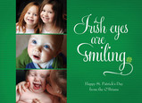 Irish Eyes Smiling 7x5 Flat Card