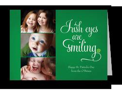 Irish Eyes Smiling 7x5 Flat Card