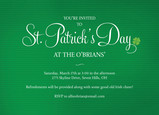 St Pattys Party 7x5 Flat Card
