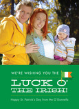 Luck O Irish 5x7 Flat Card