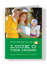 Luck O Irish 5x7 Flat Card