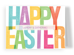 Colorful Easter Letters 7x5 Folded Card