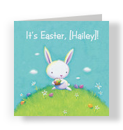 It is Easter Bunny 4.75x4.75 Folded Card