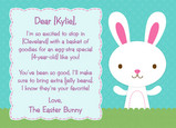 Easter Bunny Hello 7x5 Folded Card