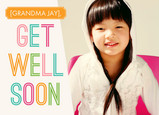 Bright Colorful Get Well 7x5 Folded Card