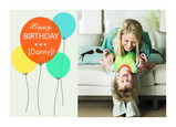 Bright Birthday Balloons 7x5 Folded Card