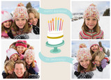 Birthday Cake Banners 7x5 Folded Card