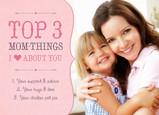 Top 3 Mom Things 7x5 Folded Card