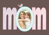 Mom Oval Frame 7x5 Folded Card