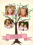 Mom Photo Tree 5x7 Folded Card