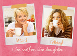 Like Mother Like Daughter Polaroid 7x5 Folded Card