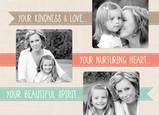 Three Ribbon Mothers Day 7x5 Folded Card