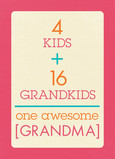 Grandma Equation 5x7 Folded Card