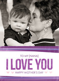 Purple I Love You Banner 5x7 Folded Card