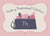 Makeup Case Motherhood 7x5 Folded Card