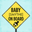 Baby on Board 4.75x4.75 Folded Card