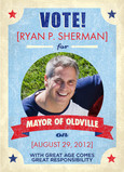 Mayor of Oldville 5x7 Folded Card