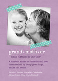 Grandmother Definition 5x7 Folded Card