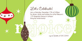 Ornaments Party 8x4 Flat Card