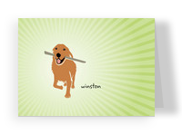 Retriever Dog 5.25x3.75 Folded Card