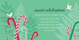 Candy Canes Party 8x4 Flat Card