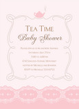 Tea Time Pink 5x7 Flat Card