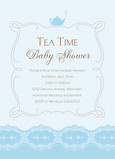 Tea Time Blue 5x7 Flat Card