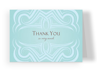 Classic Teal Note 5.25x3.75 Folded Card